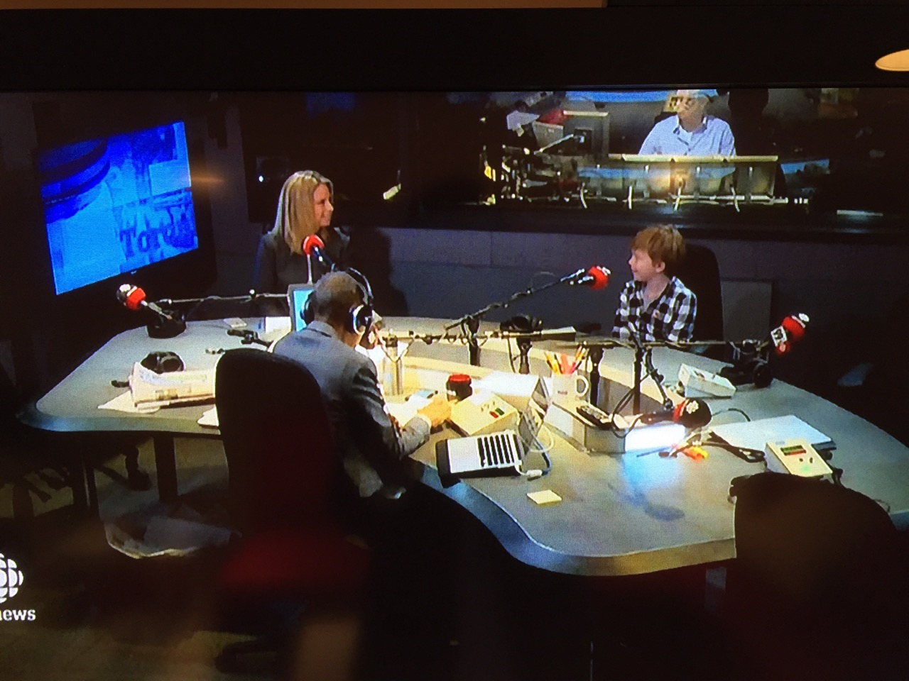 Toronto's CBC's Metro Morning radio show host interviewed the young producer/director and mom Natalie.