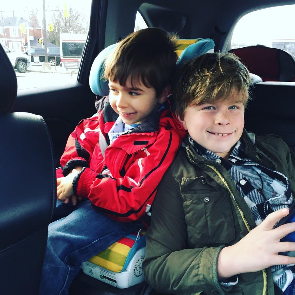 Mcintyre bros in car